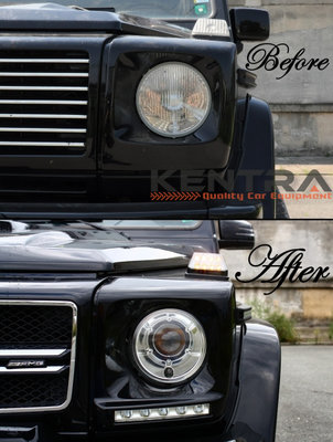 MERCEDES G-Class W463 Headlights Covers with LED DRL