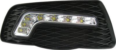 Mercedes W204 C-Klass LED Dagrijlichten Unit zonder Mistlampen