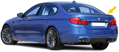 BMW 5 serie F10 Performance M Styling Koffer Spoiler