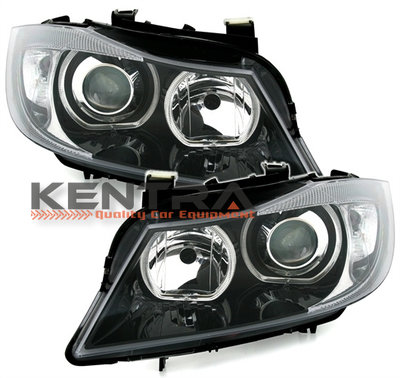 BMW E90 E91 LED Angel Eyes F30 Look Koplampen set