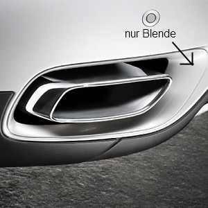 Afdekkinng bumper voor Performance uitlaten BMW X6 E71