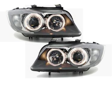 BMW E90 E91 halogeen Angel Eyes Koplampen set
