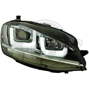 VW Golf 7 VII GTI GTD xenon 3D LED DRL koplampen zwart