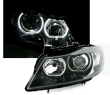 BMW E90 E91 LED Angel Eyes F30 Look Koplampen set